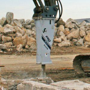 Fx175 breaking up concrete   Furukawa FRD