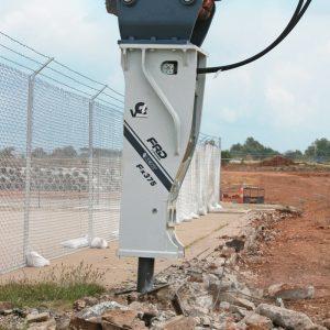 Fx375 Qtv breaking up concrete | Furukawa FRD